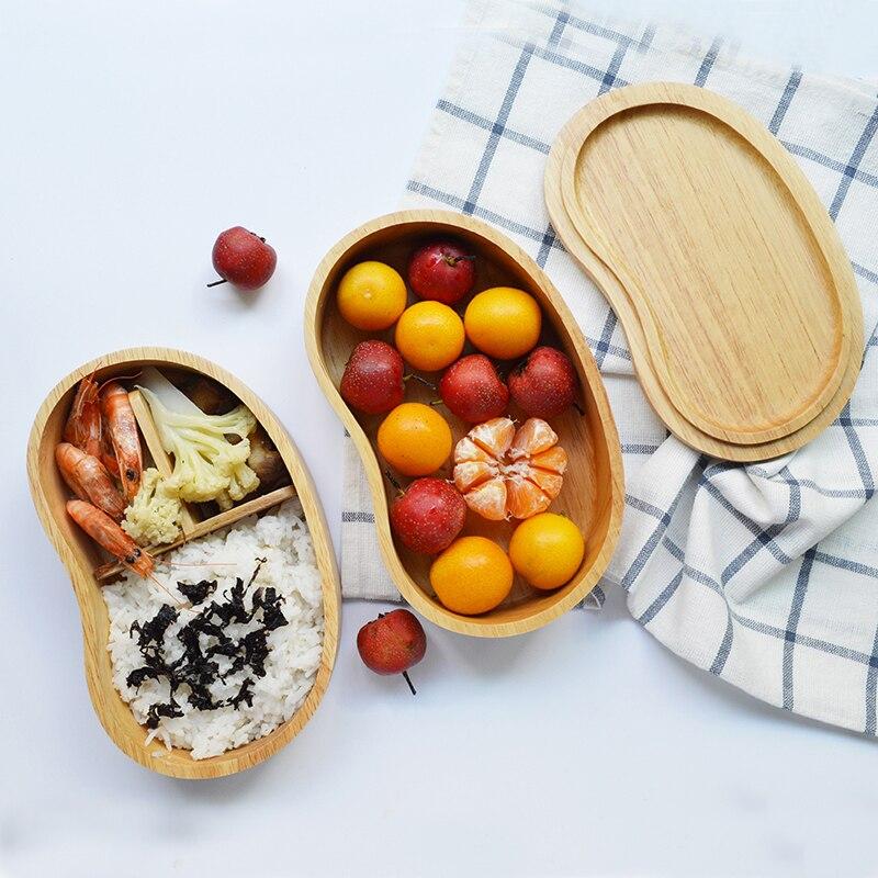 Boîtes à Lunch en bois de style japonais récipients à nourriture pour enfants boîtes à Bento cuisine vaisselle