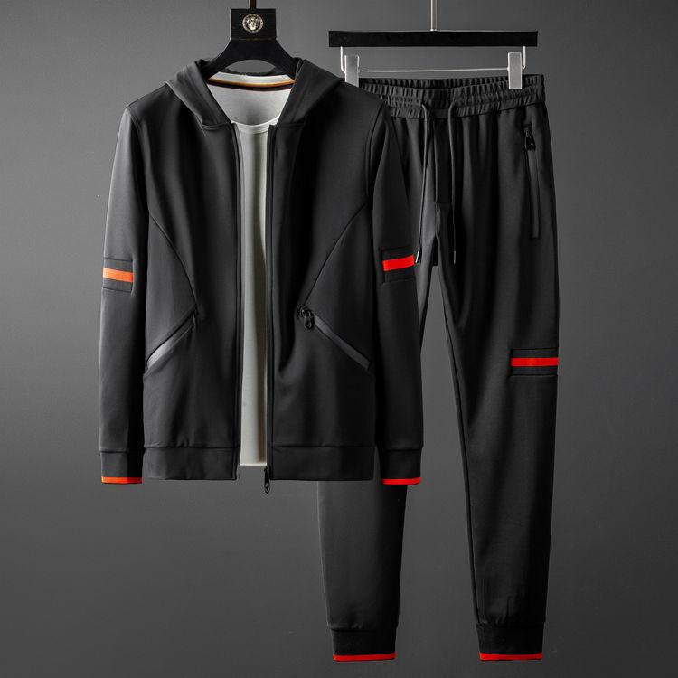 Men Sets (sweatshirts+pants) Luxury Autumn Winter Sport Mens Hoodies Elastic Waist Man Sets With Pants Plus Size 5XL