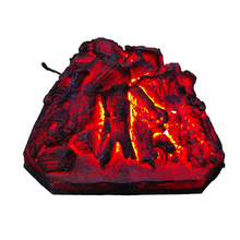 Christmas Resin Imitation Charcoal Fake Wood Fake Carbon Fireplace Furniture Indoor Flame Lighting Fireplace Shell