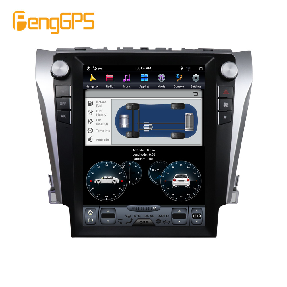 1 Din Car Radio Navigation For Toyota Camry Aurion 2012- 2016 DSP 12.1