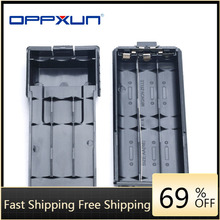 BaoFeng + BF-UV5R + Walkie + Talkie + динамик + расширенный + 6xAA + аккумулятор + чехол + корпус + упаковка + черный + корпус + для + Uv5r + Uv5re + Tonfa + Tf + Uv985 + Tyt + Th + F8