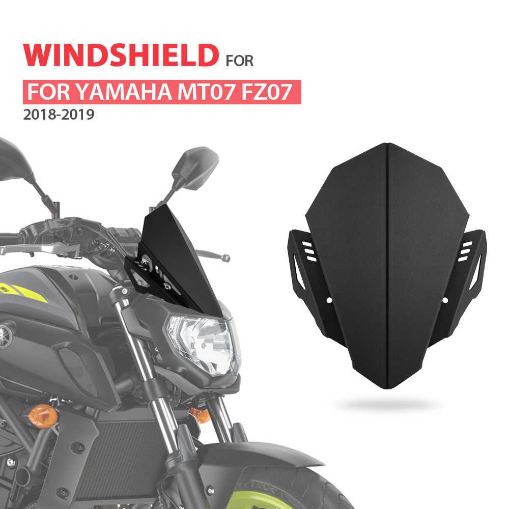 CNC Kaca Depan Kaca Depan untuk Yamaha MT07 2018 Kaca Depan Mt 07 Kaca Depan 2019 FZ07 FZ-07 FZ 07 Aluminium Kit Deflektor Cocok
