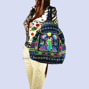 Image 2 - Tribal Vintage Hmong Thai Indian Ethnic Embroidery Bohemian Boho rucksack shoulder hippie ethnic bag backpack bag L size SYS 567