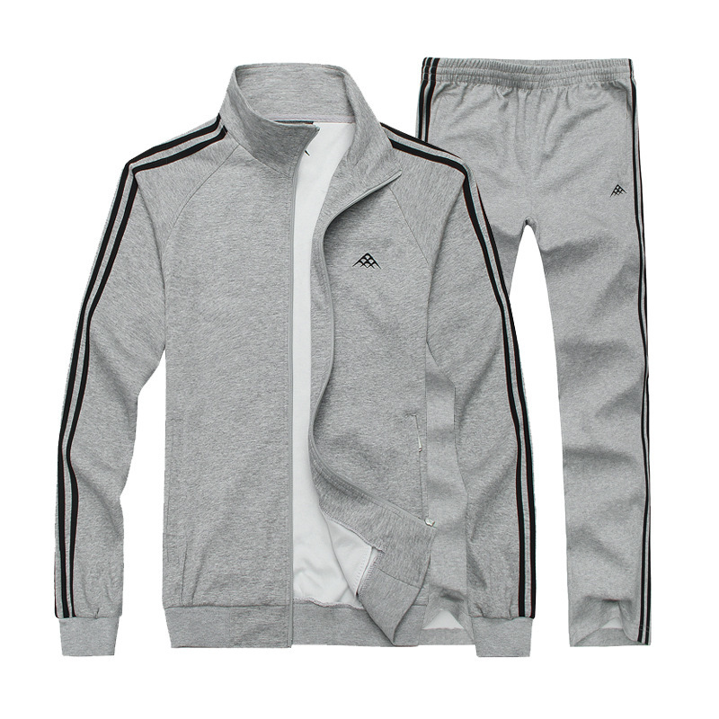Men's 2020 Spring Autumn 100% Cotton Running Large Size 7XL8XL Jogging Sports Suit 140KG Can Wear Outdoor Sportswear