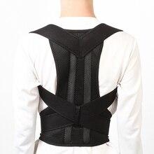 Male Female Adjustable Magnetic Posture Corrector Corset Back Brace Belt Lumbar Spine Support Vest S-XXL