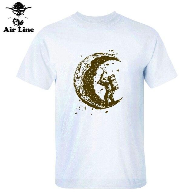 T-shirt a maniche corte Air Line uomo abbigliamento di marca T-shirt casual modello astronauta uomo 100% cotone di alta qualità