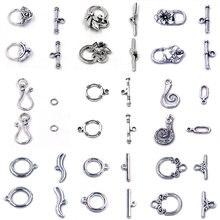 13 estilos extremidade toggle ot fechos conectores ganchos flor prendedor a granel para pulseira de metal jóias fazendo diy acessórios 10 conjuntos