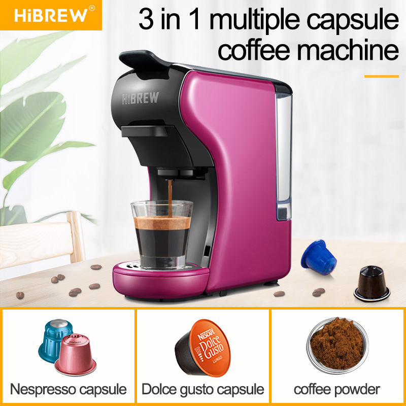 HiBREW ST-504 Espresso Coffee Machine 3-In-1 Multi-Function;Coffee Maker,Espresso Maker,Dolce Gusto Capsule Coffee Machine,