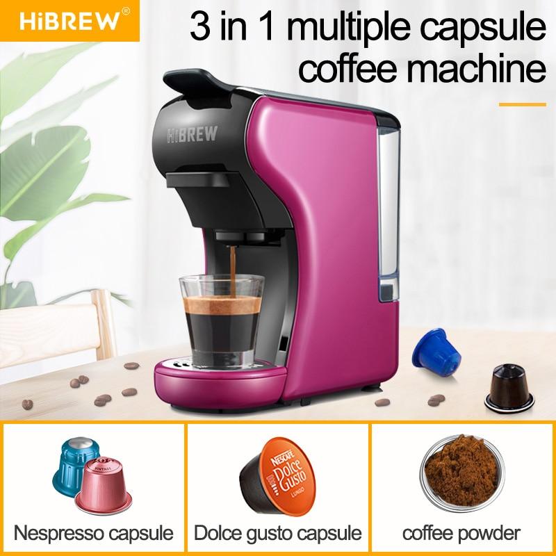 HiBREW ST-504 Espresso Coffee Machine 3-In-1 Multi-Function;Coffee Maker,Espresso Maker,Dolce Gusto Capsule Coffee Machine,