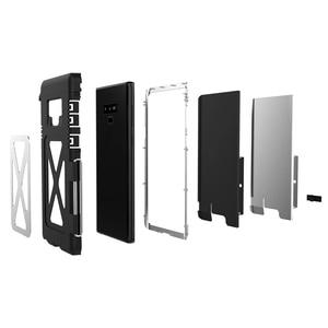 Image 4 - R JUST, odporna na wstrząsy etui do Samsung Galaxy uwaga telefon etui z klapką aluminium Metal król Iron Man 360 etui ochronne etui na telefon