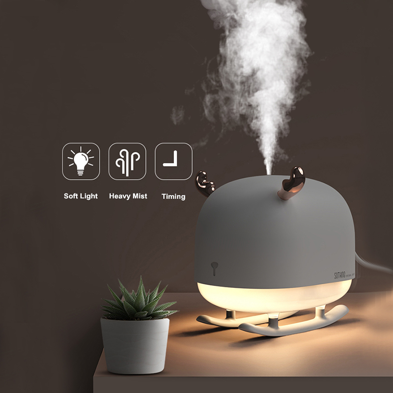 260ML Sleigh Deer Ultrasonic Air Humidifier Aroma Essential Oil Diffuser for Home Car USB Fogger Mist Maker with LED Night Lamp|Humidifiers| |  - title=
