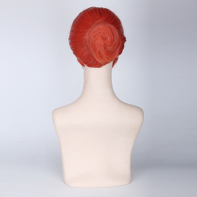 Anime Gintama Kagura Cosplay Wig With Chignon Silver Soul Short Orange Red Wigs Heat Resistant fiber Synthetic fake hair