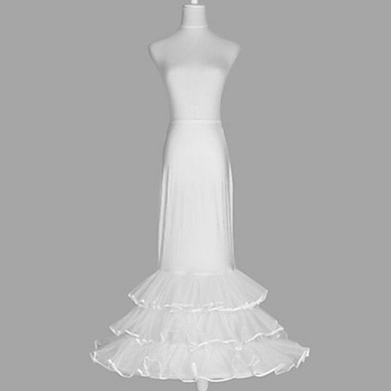 Women Tiered Ruffles Underskirt Layered Trumpet Fishtail Wedding Bride Dress Petticoat Slips One Hoop Flared Crinoline