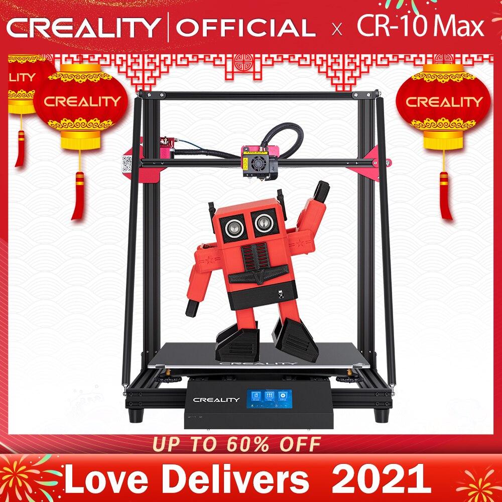CREALITY-Impresora 3D CR-10 para interiores, máquina de impresión Max BL con nivelación propia, sensor, pantalla táctil de 4.3 pulgadas, función de apagado y reanudar, filamento de imprimir Mean Well