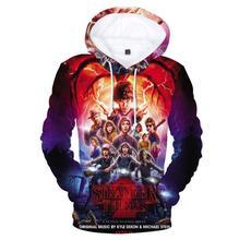 Stranger Things New 3D Hoodies Men/Women Pullovers Sweatshirts Upside Down Eleven Print Male Hooded Tracksuits Hoodie custom