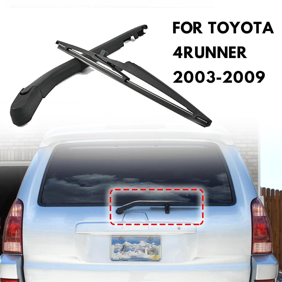 2pcs Rear Wiper Blade And Arm Windscreen Rubber Car Accessories Rear Window Fit For <font><b>TOYOTA</b></font> <font><b>4RUNNER</b></font> <font><b>2003</b></font> - <font><b>2009</b></font> 85241-35031 image