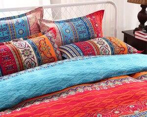 Image 2 - folkDigital print Bedding Set Quilt Cover Design Bed Set Bohemian a Mini Van Bedclothes 4pcs BE1224