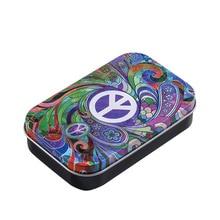 Box Cigarette-Box Paper-Holder Tobacco-Humidor Tin-Plate Smoking-Accessory Nuclear World-Peace-Symbols