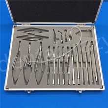 New 21PCS Stainless steel Alloy Eye Ophthalmic Cataract & Intraocular Set Surgical Instrument Micro Surgery Tools