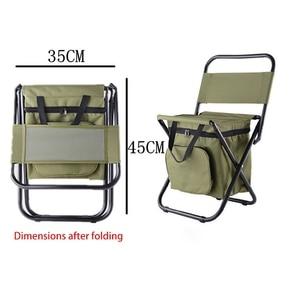 Image 3 - Çok fonksiyonlu açık katlanır tabure taşınabilir buz torbası taburesi yalıtım çantası balıkçı taburesi plaj sandalyesi hafif tabure