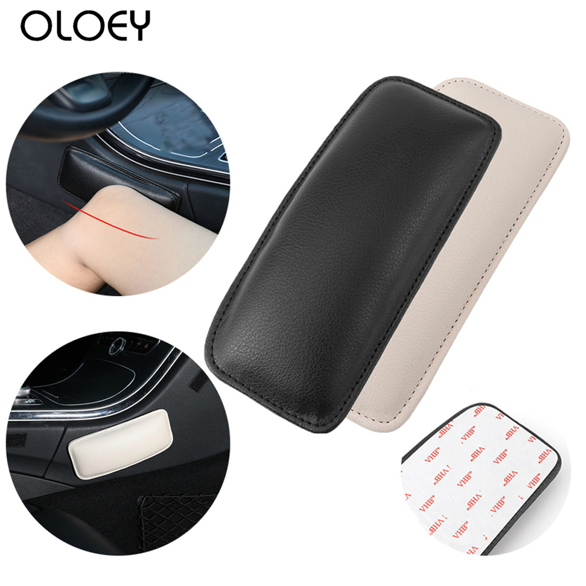 Universal Leather Knee Pad For Car Interior Pillow Comfortable Elastic Cushion Memory Foam Thigh Support Accessories