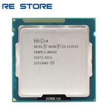 تستخدم إنتل زيون E3 1245 V2 رباعية النواة معالج وحدة المعالجة المركزية 3.4GHz LGA 1155 8MB SR0P9