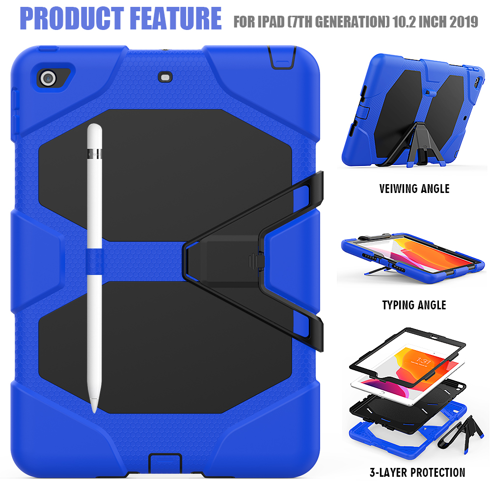 Heavy Kickstand For Rugged PC Armor iPad Silicone Case Shockproof Kids 10.2 Case Duty