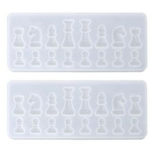 Resin Casting Molds Set by Garloy 2Pcs 3D Chess Clear Silicone Mold for Making Tools Accessories