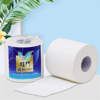 4-warstwa miękka gospodarstwa domowego Rollss papier do kąpieli w domu papieru papier toaletowy papier biały papier toaletowy akcesoria kuchenne tkanki tanie i dobre opinie Linmei CN (pochodzenie) 4PLY 12*10cm Virgin wood pulp Toilet Paper 150g