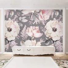 Bacaz 3D Big Rose Flower Wallpaper Murals for TV Background Wedding Room 3d