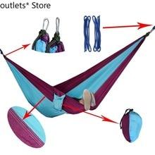Double Leisure Hammock Outdoor Camping Hammock Portable Hammock Adult Child Parent-child Game Indoor Swing