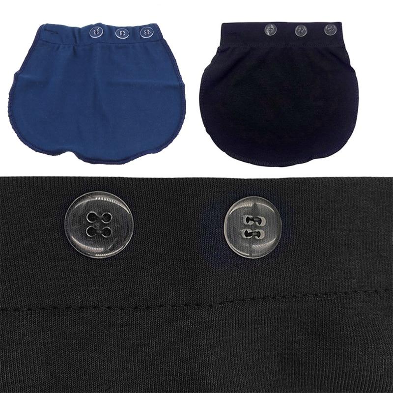 Maternity Pregnancy Waistband Belt Adjustable Pants Lengthening Waist Extenders 3XUC