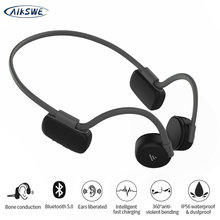 AIKSWE Bone Conduction Wireless Headphones Bluetooth Sports Earphones IP56 Headset Stereo Hands-Free With Microphone For Running