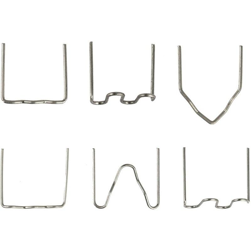 HLZS-600Pcs Hot Stapler Plastic Repair Machine Welding Kits for Car Auto Bumper Repairing Tool for All Cars, 6 Types