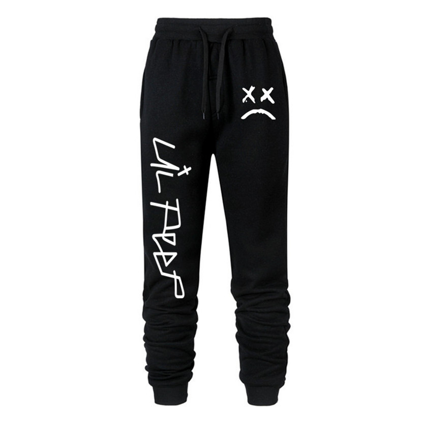 Love Lil.peep Men Brand Pants Multi Pocket Hip Hop Pants Male Trousers Mens Joggers Solid Pants Sweatpants Large Size S-XXXL