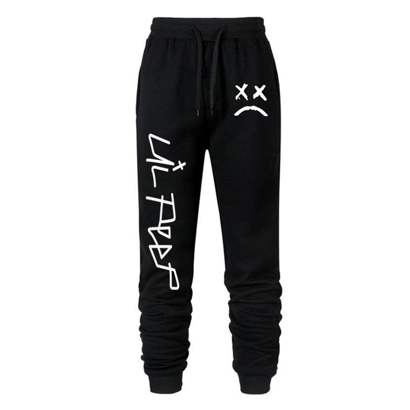 Love Lil.peep Men Brand Pants Multi Pocket Hip Hop Pants Male Trousers Mens Joggers Solid Pants Sweatpants Large Size S-XXXL