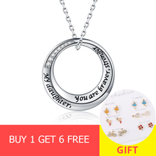 XiaoJing New Fashion 100% 925 Sterling Silver Clear Round Shape White CZ Pendant Necklace for Women Party Jewelry free shipping