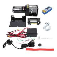 3000lbs Electric Recovery Winch 12V Wire Remote Control Kit for Truck SUV ATV Tow Boat Trailer trailer Recovery Winch Kit