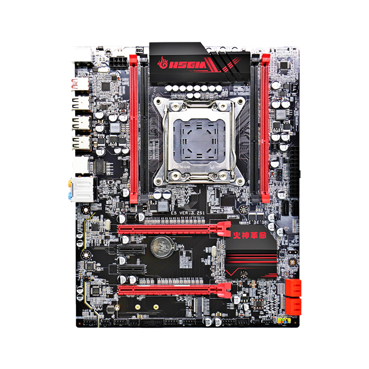 X79 Motherboard LGA2011 CPU ATX <font><b>USB3</b></font> SATA3 Kit <font><b>PCI</b></font>-E NVME M.2 SSD Support DDR3 REG ECC Rams and Xeon E5 Core Processor Mainboard image