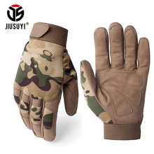 Multicam Tactical Gloves Antiskid Army Military Bicycle Airsoft Motocycel Shoot Paintball Work Gear Camo Full Finger Gloves Men(China)