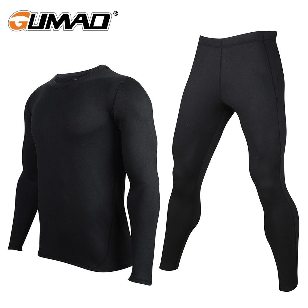 Couche de Base d'hiver sous-vêtement thermique Compression pantalon ensembles de chemise cyclisme chaud Stretch collants hommes longs Johns vêtements de sport Fitness
