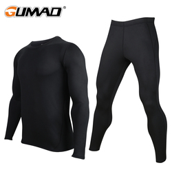 Winter Base Layer Thermal Underwear Compression Pants Shirt Sets Cycling Warm Stretch Tights Men Long Johns Sportswear Fitness