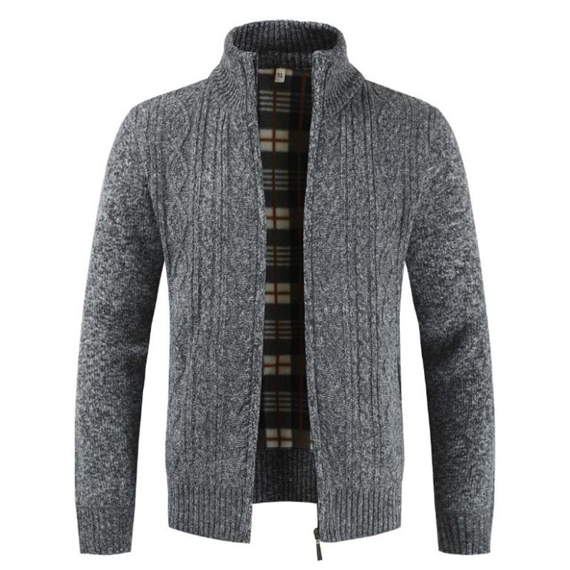 cardigan sweaters autumn thick warm knit sweater man Men's jackets coats Casual menswear point