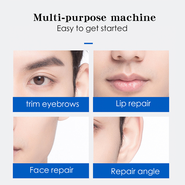 Electric Face Eyebrow Scissors Hair Trimmer Mini Portable Women Body Shaver Remover Blade Razor Epilator 2 Colors Practical 2