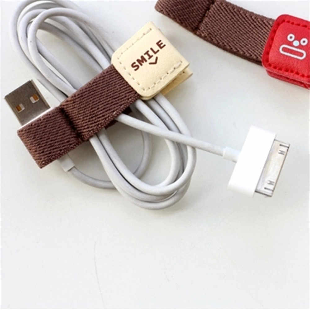 2pcs Kawaii Stationary Headphone USB Cable Winder Wire Holder Wrap Cord Desk Set Cute Cable Organizer Office Supply Accessories