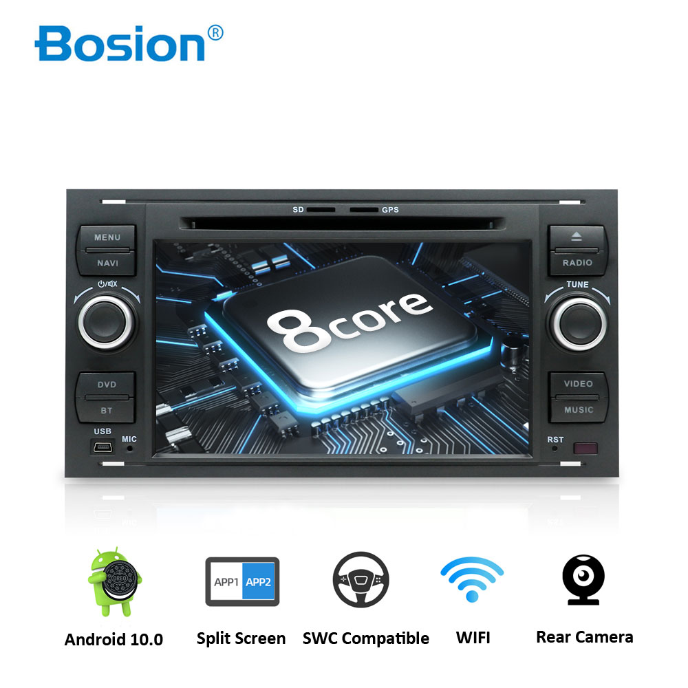 Bosion Car Multimedia Player Octa Core Android Car DVD <font><b>GPS</b></font> <font><b>Autoradio</b></font> <font><b>2</b></font> <font><b>Din</b></font> 7'' For Ford/Mondeo/Focus/Transit/C-MAX/S-MAX/Fiesta image