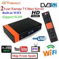 GT Media V8 Nova DVB-S2 Freesat V7s hd récepteur Satellite H.265 WIFI intégré + 1 an Europe espagne CCcam nouvelle Version de V8 Super
