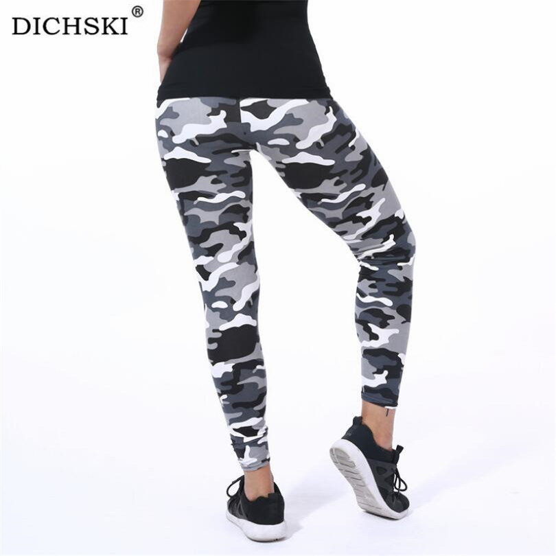 DICHSKI Camouflage Sports Yoga Pants Printed Leggins Sport Women Fitness Hip Push Up High Waist Sport Leggings Gym Tights Mujer image