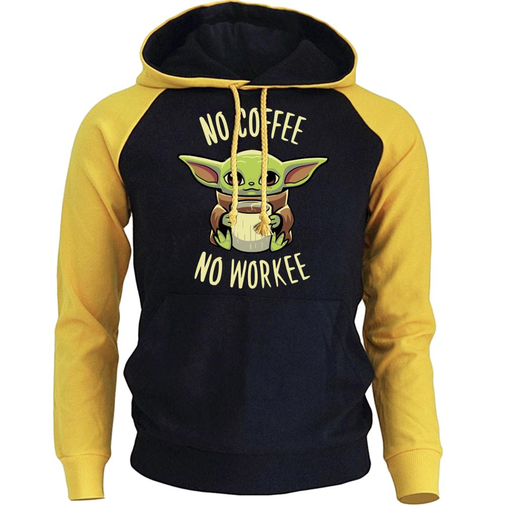 Lovely Baby Child Yoda Hoodies Men Star Wars Mandalorian Mens Sweatshirt Autumn Spring Streetwear Hip Hop Hoodie Sportswear