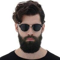 MUSELIFE 2020, поляризационные солнцезащитные очки, мужские, фирменный дизайн, винтажные, классические, солнцезащитные очки, для вождения, полуоп...